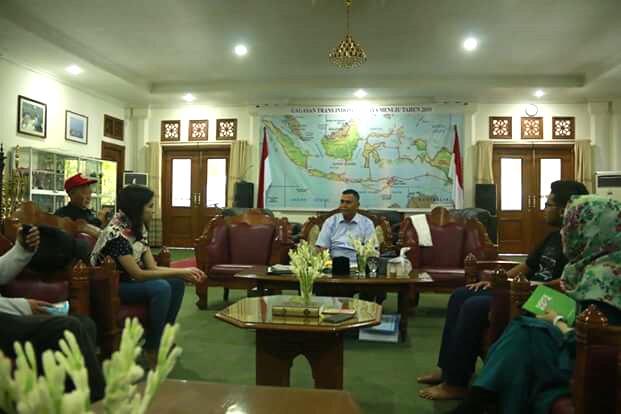 Para anggota PPI diterima langsung oleh Syaykh Panji Gumilang di Masikhah (dok. Latief Weha)