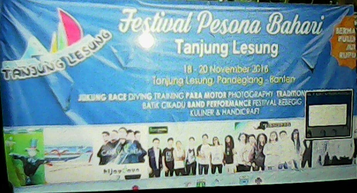 Baner Festival Pesona Bahari Tg Lesung