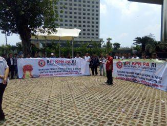 Aksi Damai BPI KPNPA Menolak Angket DPR RI
