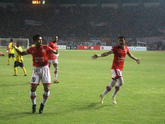 Persija Jakarta Menang atas Semen Padang di Stadion Patriot Candra Baga Bekasi
