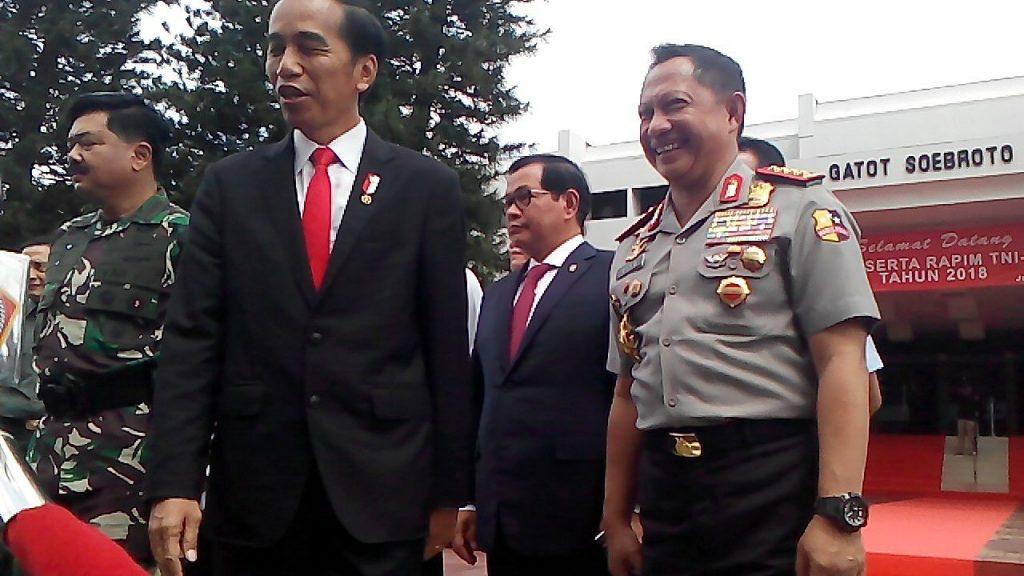 Presiden RI Joko Widodo Resmi Buka RAPIM TNI-POLRI Tahun 2018 di MABES TNI Jakarta 2018-01-24 at 14.25.59
