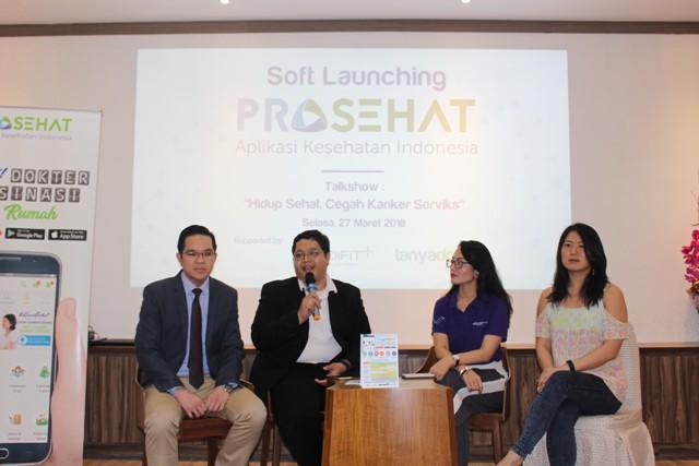 """Acara Talkshow bertema """"Hidup Sehat Cegah, Kanker Serviks"""", di Jakarta Selasa (27/3)"""