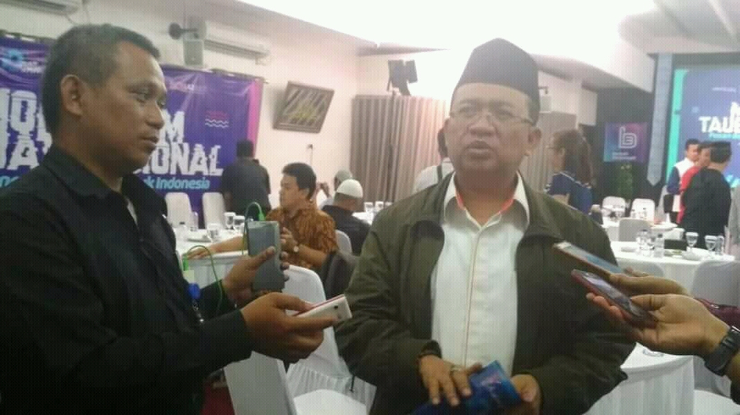 Ketua Umum Partai Berkarya Priyo Budi Santoso saat diwawancara wartawan di AQL Islamic Center,  Jakarta (20/8)