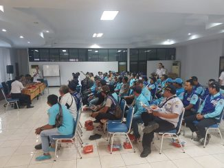 Sosialisasi Saber Pungli oleh Polres Metro Jakarta Utara kepada Juru Parkir di Wilayah Jakarta Utara