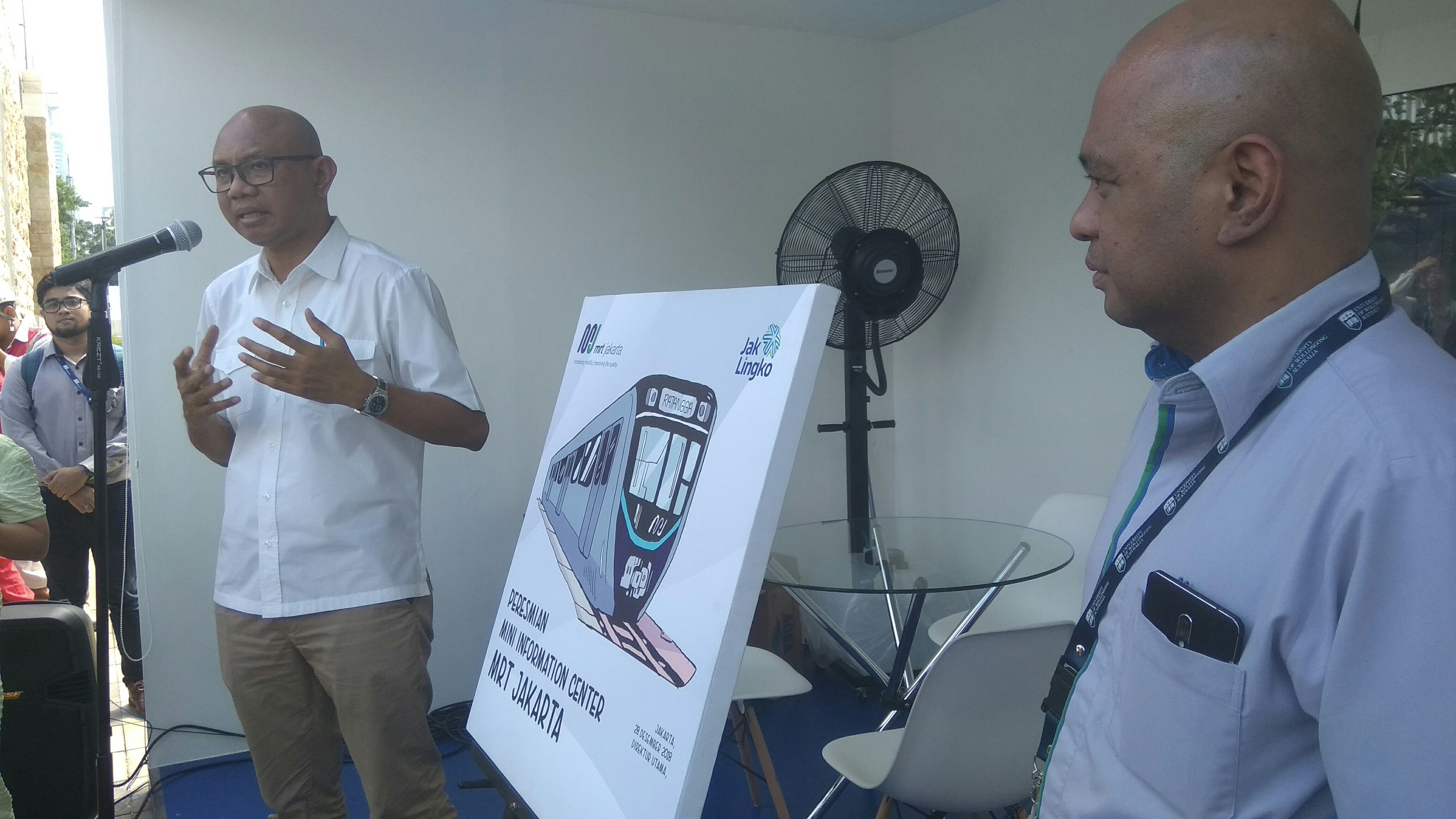 Direktur Utama PT MRT Jakarta, William P Sabandar
