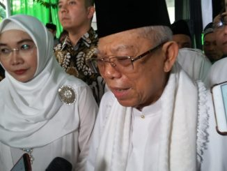 Cawapres KH Ma'ruf Amin bersama Istrinya (Photo:mb3/hatta)
