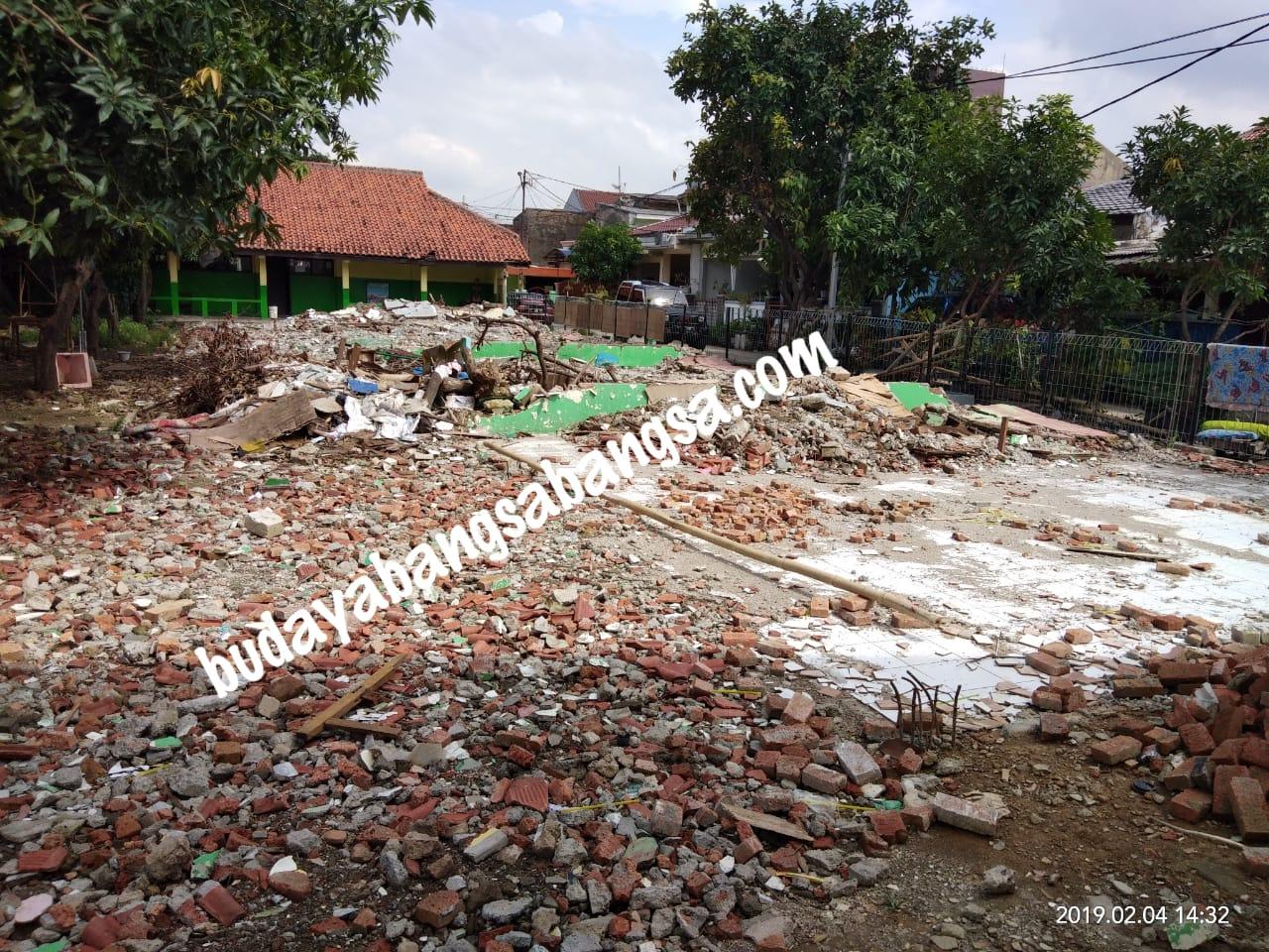 Kondisi Gedung Sekolah yang telah rata dengan Tanah