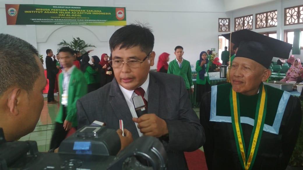 Rektor IAI ALAZIS Imam Prawoto Dalam Keterangan Persnya di Indramayu, (25/3)