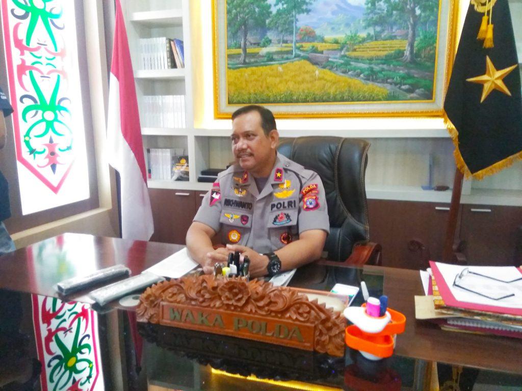 Wakapolda Kalimantan Tengah Drs Rikhwanto SH, MHum di Palangkaraya, Kamis (5/12)