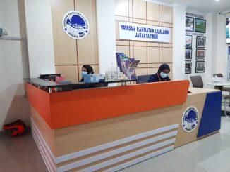 Kantor Layanan Donasi milik Yayasan Rahmatan Lil-Alamin Jakarta Timur. Foto : Ist.