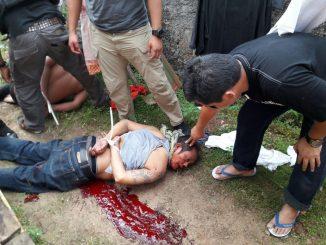 Pelaku pembunuhan di pulau mas 2 org ber hasil di tembak mati