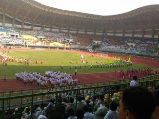 Suasana Stadion Candra Bhaga Kota Bekasi berlangsung kegiatan HARKITNAS (Hari Kebangkitan Nasional)