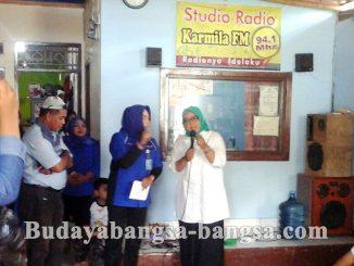 Cabup No 2. Ade Yasin Kunjungi Radio Karmila di Desa Susukan Bojonggede