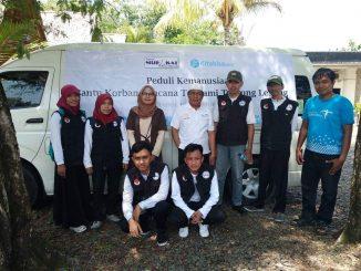 Rombongan sampai di lokasi penyaluran bantuan untuk korban dampak tsunami Selat Sunda